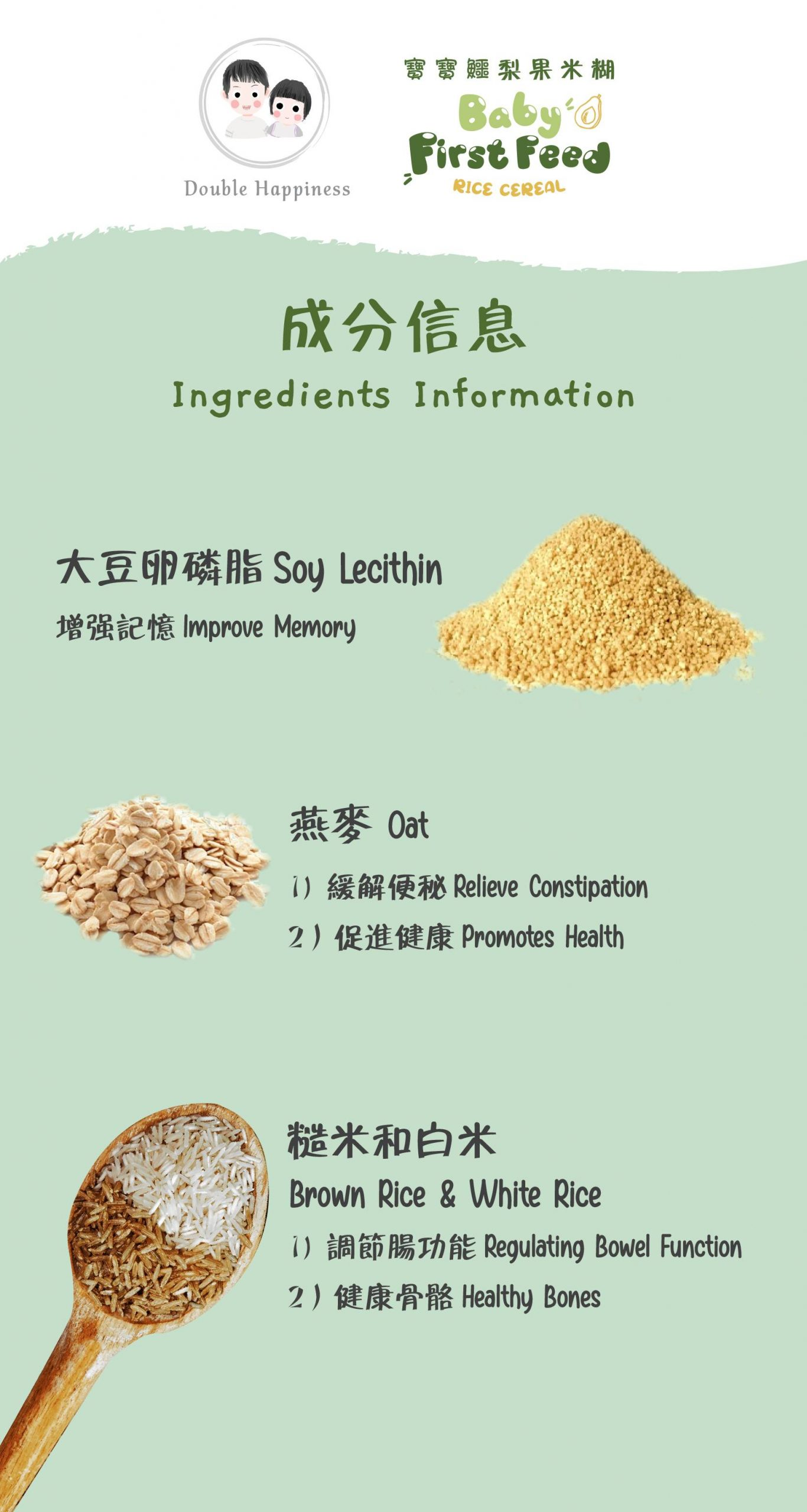 Ingredient used in baby rice cereal