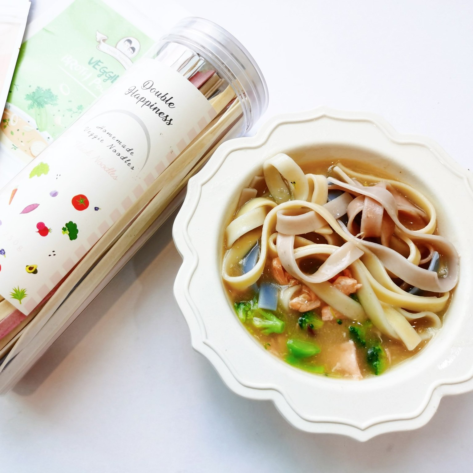 vegetable thick noodles